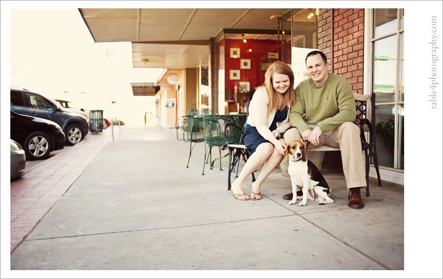 downtown denton, tx engagement pictures
