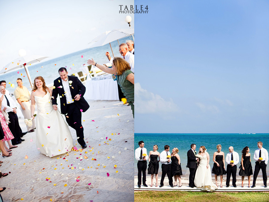 moon palace, cancun, mexico wedding images, beach wedding party picture