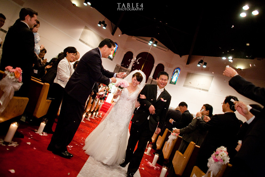 korean christian church wedding image
