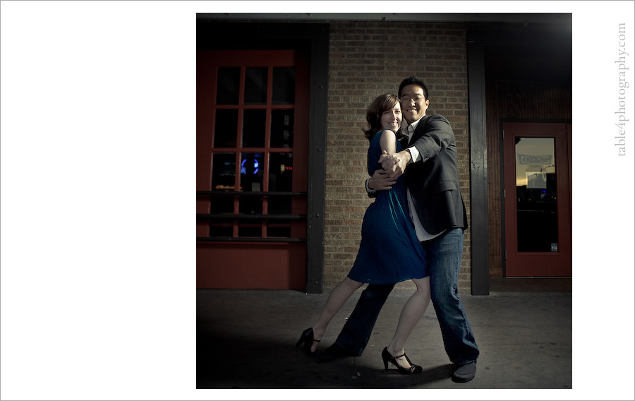 austin tx engagement photos, downtown, dancing