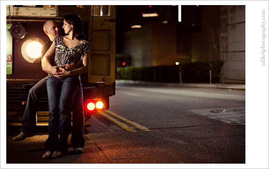 downtown dallas mckinney avenue trolley engagement image