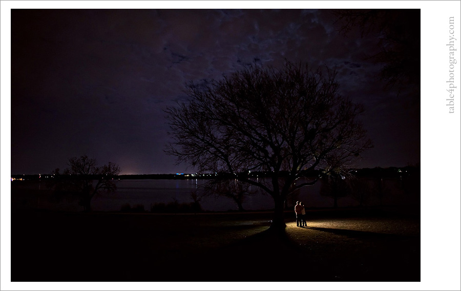 white rock lake engagement image