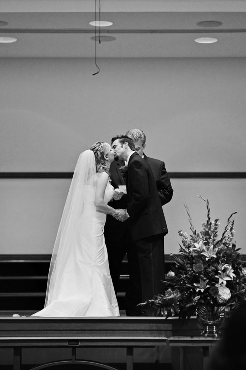 first kiss wedding image