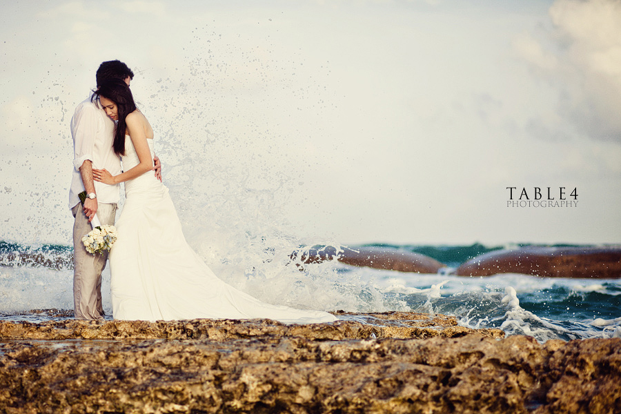 playa del carmen mexico beach wedding image