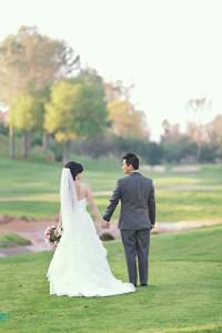 pretty bride and groom at rancho bernardo inn wedding san diego photographer