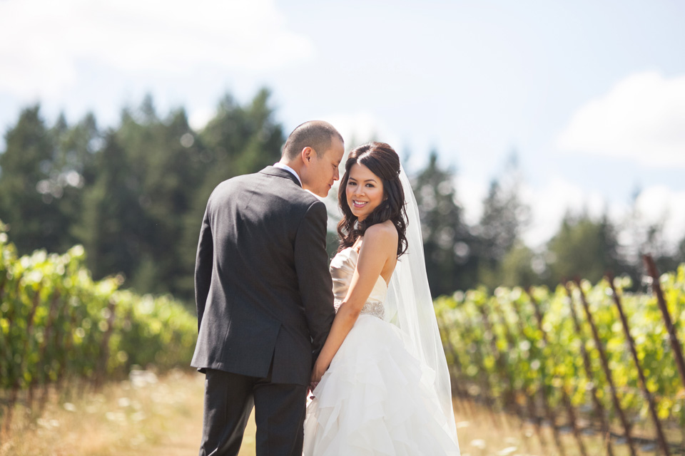 Kimvi and Steven wedding - Willamette valley winery wedding by Jason Huang, Table4.