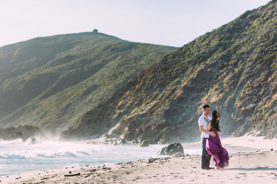 linda and ty big sur engagement photos, big su state park engagement, pfeiffer big sur photo, linda and ty, table4weddings by Jason Huang of Table4 Weddings.